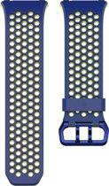 Fitbit Ionic Sport bandje - Blauw/Geel - Large