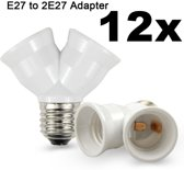 12 Stuks E27 naar 2 x E27 Converter Splitter Adapter