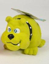 Hondenspeelgoed - Hondenspeeltje Bulldog - Groen - Geluid - Latex - 12.5cm