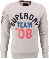 Superdry lichtgrijze sweater Maat - S