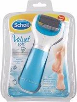 Scholl Velvet Soft Elektronische Voetvijl + 2 extra verwisselbare rollers - Eeltverwijderaar Blauw 1 Stuk