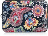 Laptop sleeve 15.4 inch met Paisley print – Antraciet/Multicolour