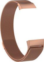 Fitbit Charge 3 Milanese Horloge Bandje Rose Goud (Small) 2018 met magneetsluiting - Verstelbaar - RVS - Activity Tracker Wearablebandje - Milanees horloge armbandje / polsbandje - Activity tracker - horloge band - inclusief garantie!