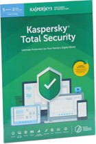 Kaspersky Total Security | 5 Apparaten | 1 Jaar | Engelse verpakking | Alle Europese talen