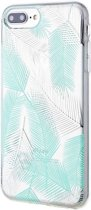 Roar iPhone 7 Plus Case Gel Tpu Color Silicone Green + Nano Screen Protector hoesje
