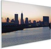 De skyline van het Noord-Amerikaanse Indianapolis bij zonsopgang Plexiglas 90x60 cm - Foto print op Glas (Plexiglas wanddecoratie)