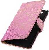 Huawei Nexus 6P Roze | Lace bookstyle / book case/ wallet case Hoes  | WN™