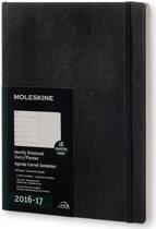 Moleskine agenda 2016 2017 18 Months Planner Weekly Notebook Extra Large Black Soft Cover