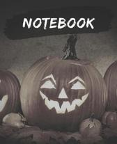 Notebook: Halloween Pumpkin - Composition Notebook College Ruled Blank Lined Journal, subject for adults, teens, students, kids,