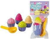 Speelgoed cupcake zandvormen 9 delig