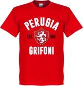 Perugia Established T-shirt - Rood - S
