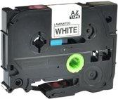 Brother P-Touch 1000 (TZe231) 12mm Black op wit Gelamineerd zelfklevend tape   huismerk