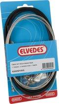 Elvedes Remkabel Set Achter Trommelrem 2350/1700 Mm Zwart/zilver