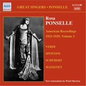 Ponselle Rosa:Am. Recordings 3