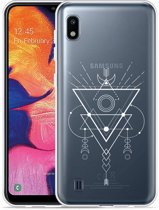 Galaxy A10 Hoesje Abstract Moon White