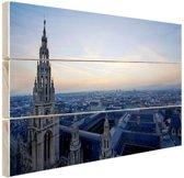 Rathaus Wenen Hout 120x80 cm - Foto print op Hout (Wanddecoratie)