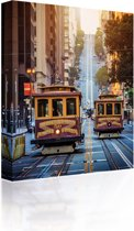 Sound Art - Canvas + Bluetooth Speaker San Francisco Trams (41 x 51cm)