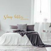 Muursticker Slaap Lekker Droomzacht -  Goud -  120 x 25 cm  - Muursticker4Sale