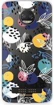 Motorola Z2 Force Hoesje Abstract Flowers