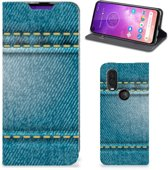 Motorola One Vision Hippe Standcase Jeans
