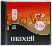 Maxell computerbehuizingen Audio CD-R 700 Mb 80 minuten Jewel Case 10 stuks
