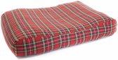Hondenkussen Schotse ruit rood 80x55x15 cm