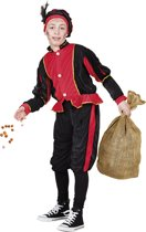 Pieten kostuum kinderen rood (4-6 jaar)