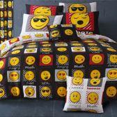 Smiley 2 persoons dekbedovertrek, Smileys dekbed 200 x 200cm.