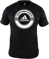 adidas T-Shirt Combat Sports Zwart/Wit Extra Small