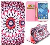 Dizzy wallet hoesje Alcatel one touch C7