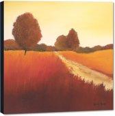 Scarlet Landscape l – 50x50 cm – Hans Paus – PixaPrint – AB0330-1