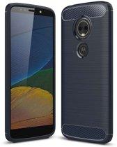 Motorola Moto E5 Plus hoesje - Rugged TPU Case - blauw