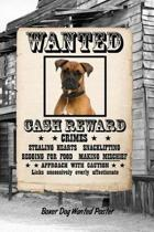 Boxer Dog Wanted Poster