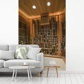 Fotobehang vinyl - Wijnkelder in het Amerikaanse Palm Springs breedte 270 cm x hoogte 400 cm - Foto print op behang (in 7 formaten beschikbaar)
