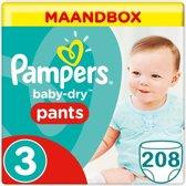 Baby Dry Pants Maat 3 - 208 Luierbroekjes Maandbox XL