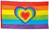 Gevelvlag Regenboog met hart (90 x 150 cm)