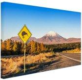 Kiwi bord Nieuw-Zeeland Canvas 30x20 cm - Foto print op Canvas schilderij (Wanddecoratie woonkamer / slaapkamer) / Zee en Strand