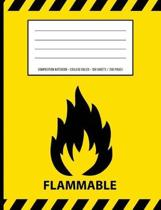 Flammable Warning Periodic Table Chemistry Composition Notebook