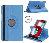 Huawei MediaPad M5 8.4 draaibare hoes Licht Blauw