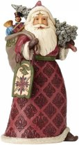 Jim Shore beeldje - Heartwood Creek collectie - Dreaming Of Christmas Past - Victorian Santa