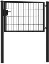 Enkele tuinpoort 120 x 80 cm (bxh) | zwart RAL9005 premium