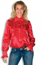 Rouches blouse rood dames 42 (xl)