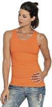 Oranje tanktop/singlet voor dames - Holland feest kleding - Supporters/fan artikelen - dameskleding hemdje/top S (36)