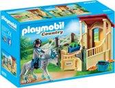 PLAYMOBIL Appaloosa met paardenbox  - 6935