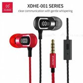 Xundd in-ear Headphone Metallic look & High Quality Sound Rood
