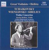 Jascha Heifetz - Tchaikovsky, Wieniawski, Sibelius: Violin Concertos