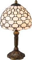 Tafellamp Tiffany ø 20*38 cm E14/max. 40Watt Natuur | 5LL-5879 | Clayre & Eef