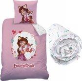 Enchantimals Felicity Fox - Dekbedovertrek - Eenpersoons - 140 x 200 cm - Multi - Inclusief hoeslaken