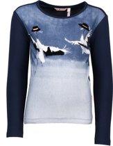 NONO Meisjes T-shirt - Navy - Maat 146/152