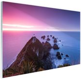 Nugget Point Nieuw-Zeeland Glas 30x20 cm - Foto print op Glas (Plexiglas wanddecoratie)